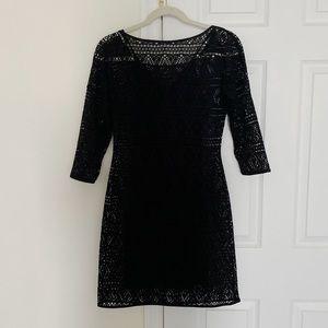 🆕 [Express] Lace Quarter Sleeve Black Dress